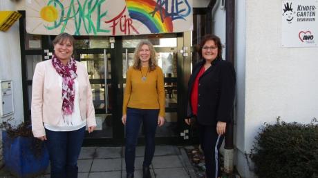 Silke Scherer vom AWO-Schwaben-Vorstand, Christiane Braunmiller sowie Manuela Billing, Fachberatung bei der AWO-Schwaben (von links).