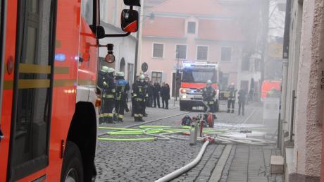 In der Ingolstädter Altstadt brannte ein Keller.