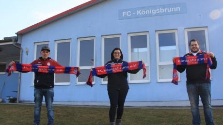 Sie führen den FC Königsbrunn als Vorstandsteam in die Zukunft: (von links) Yener Abacioglu, Katja Steinbach und Oliver Stan.