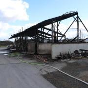 Brand, Maschinenhalle, Biogasanlage, Osterberg