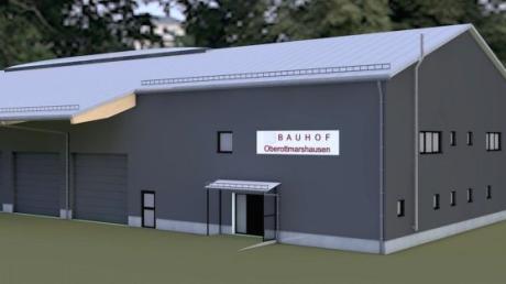 So soll der Oberottmarshauser Bauhof einmal aussehen. Die 3-D-Ansichten des Planentwurfs sind von Gerhard Riedmiller.