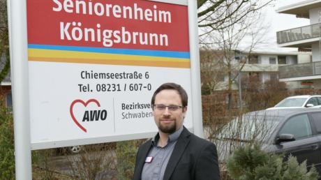 Florian Heinbach hatte keinen leichten Start. Doch er will sich mit aller Kraft seiner neuen Aufgabe als AWO-Heimleiter in Königsbrunn widmen.