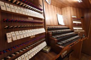 Pressetermin Kongresshalle / Kongress am Park. Präsentation der restaurierten Steinmeyer- Orgel / Steinmeyer Orgel / Konzertorgel. Bild: Ulrich Wagner