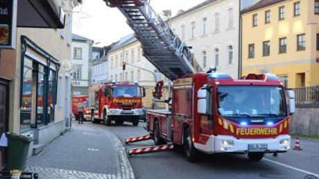 Die Feuerwehr war in der Luitpoldstraße in Neuburg im Einsatz.