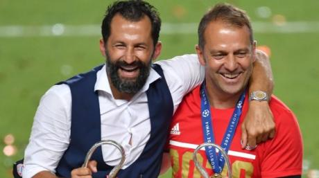 Am 23. August 2020 feierten Hasan Salihamidzic und Hansi Flick mit dem Sieg in der Champions League ihren größten gemeinsamen Triumph. Und wirkten glücklich miteinander. Die Zeiten haben sich geändert.