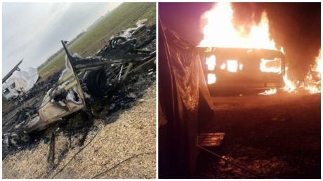 Drei Wohnwagen brannten in Weidenstetten komplett ab, zwei weitere wurden massiv beschädigt.