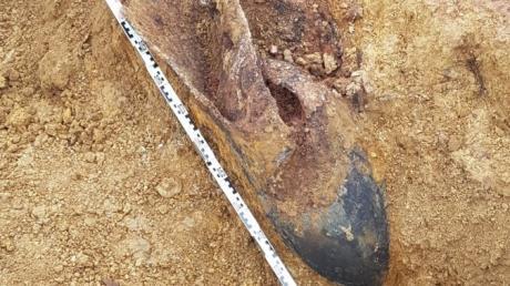 Im Bereich Fritz-Wendel-Straße/Albert-Schweizer-Straße in Leipheim ist am Montagnachmittag eine Fliegerbombe gefunden worden.