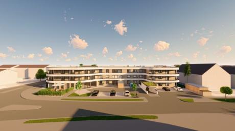 """Drei Stockwerke in die Höhe und drei Grundstücke in die Breite: Bürgermeister Simon Schropp nannte den Bau der Seniorenanlage in vergangenen Gemeinderatssitzungen ein """"mächtiges Projekt""""."""