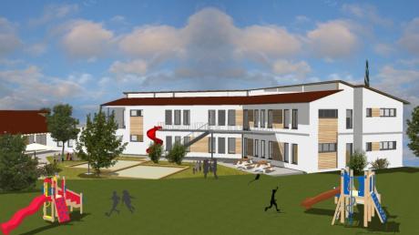 In Eurasburg steigt der Bedarf an Betreuungsplätzen für Kinder. Deswegen erweitert die Gemeinde den Kindergarten.