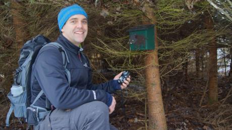 Marco Harth aus Merching geht gerne auf Geocaching-Touren und legt auch selbst Verstecke an.
