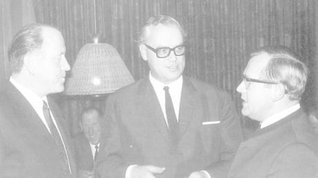 CSU-Granden im Kreisverband Günzburg (von links): Bruno Merk, Leo Wagner und Georg Simnacher. Über Wagner wird am 31. März um 22.45 Uhr eine Dokumentation im Bayerischen Fernsehen gezeigt.