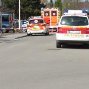 Polizeieinsatz am  Donnerstagnachmittag in der Krumbacher Robert-Steiger-Straße.