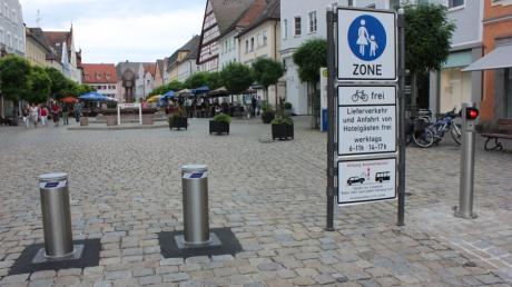 Die Poller in der Günzburger Innenstadt sind nach wie vor nicht im Einsatz.