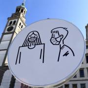 Die Corona-Zahlen in Augsburg steigen weiter. Am 17. April lagen sie bei 259 (RKI).