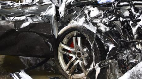 Mit diesem Auto verursachte ein 27-Jähriger am Dienstag einen tödlichen Unfall nahe Monheim.