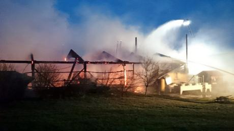 Der Brand bei Osterberg am 11. März war einer der größten der vergangenen  Jahre im südlichen Landkreis Neu-Ulm.