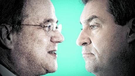Freundschaftlich wollen Armin Laschet (links) und Markus Söder die Frage der Kanzlerkandidatur lösen. Doch am Montag wurde klar: Völlig geräuschlos wird das kaum funktionieren.
