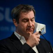 Ebenso wie Armin Laschet trat Markus Söder am Montag vor die Presse.