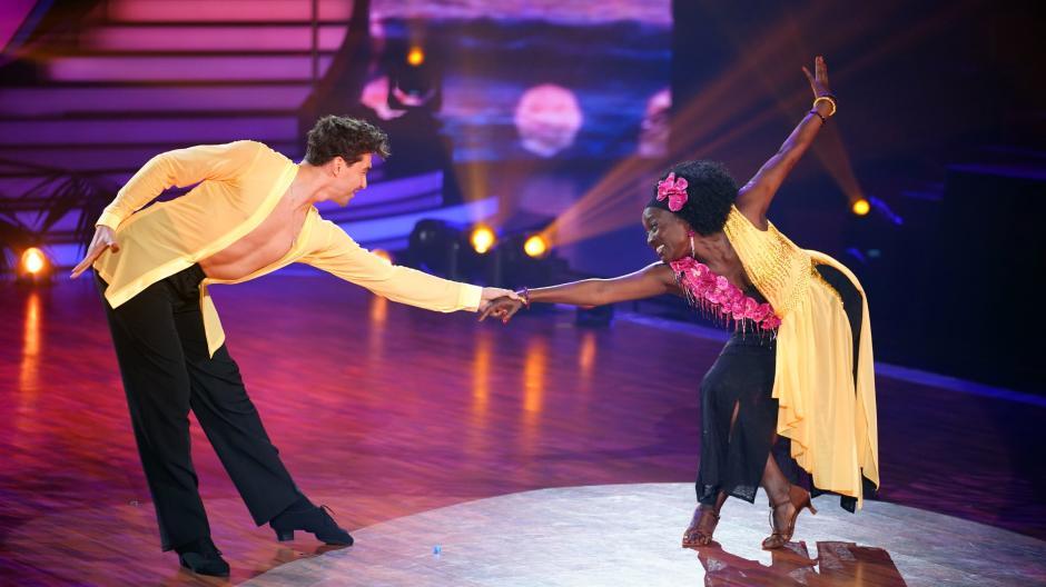 Auma Obama and dance partner Andrzej Cibis.