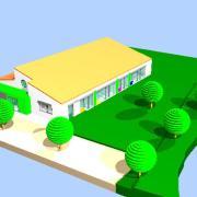 So soll das neue Rinnenthaler Kinderhaus von Südwesten aus aussehen.