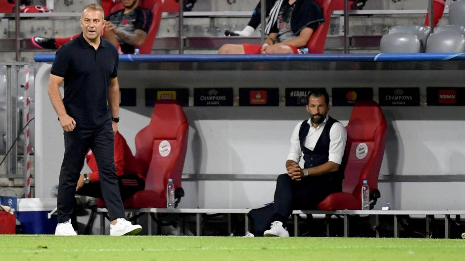 Hasan Salihamidzic und Hansi Flick gelten nicht als harmonisches Duo. Wahrscheinlich werden sie nur noch fünf Spieltage zusammen am Spielfeldrand verbringen.