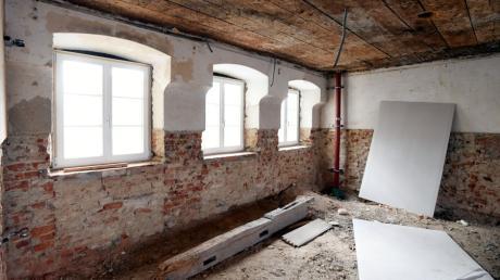 So sieht es derzeit im Mansardengebäude in Emersacker aus.