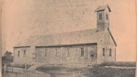 So sah die Baracke der Meringer Notkirche aus, die für 500 Gulden in Kiefersfelden erworben wurde.