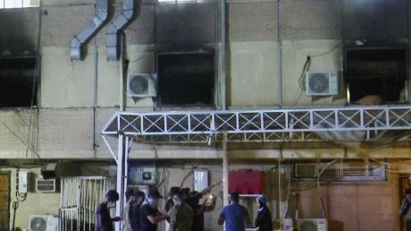 In der Corona-Station des Krankenhauses hat ein tödliches Feuer gewütet.