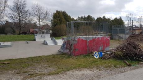 Kein optisches Highlight: der Skaterplatz auf dem TSV-Gelände in Schwabmünchen.