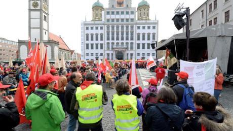 Der Demonstrationszug vom Gewerkschaftshaus am Katzenstadel zum Rathausplatz hat Tradition. In diesem Jahr muss er wegen Corona ausfallen.