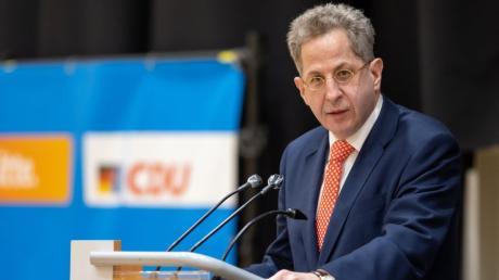 Hans-Georg Maaßen CDU spricht vor der Wahlkreisvertreterversammlung der CDU-Kreisverbände in Südthüringen.