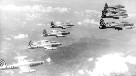 Düsenjäger vom Typ F-84 setzte die US Air-Force auch im Koreakrieg ein.