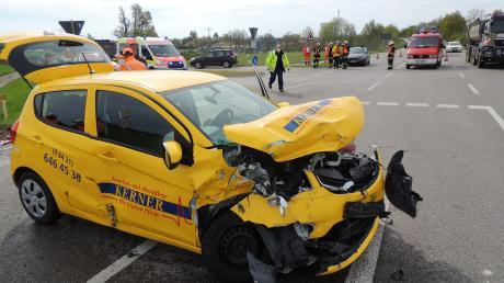 Ein Unfall auf der B16 hätte noch schlimmer ausgehen können.