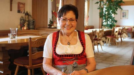Berta Kugelmann betreibt seit 50 Jahren den Hiltenfinger Keller in Hiltenfingen. Sie übernahm das Gasthaus von ihren Eltern.