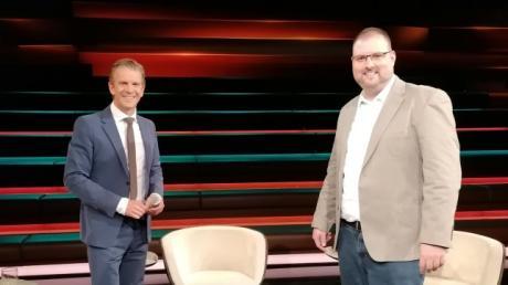 Dr. Christian Kröner (rechts), Hausarzt aus Neu-Ulm/Pfuhl, war am Mittwoch in der ZDF-Talkshow von Markus Lanz zu sehen. Dabei ging auch um das Daten-Problem beim digitalen Impfpass.