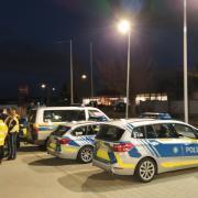 Bis etwa 22 Uhr war die Polizei am Impfzentrum in Bad Wörishofen im Einsatz.