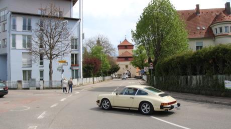 Die Umler Straße in Nördlingen. Bis zum 15. Mai kann es hier zu Verkehrsbehinderungen kommen.