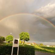 Regenbogen bei Blindheim