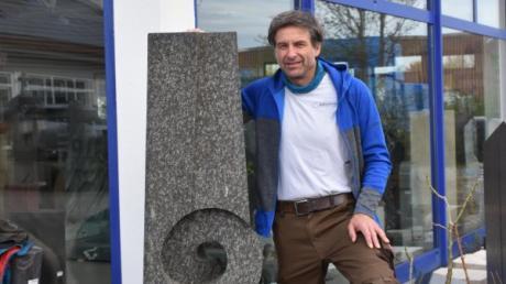 Frank Weiher führt den Steinmetzbetrieb seit 2001 in fünfter Generation.