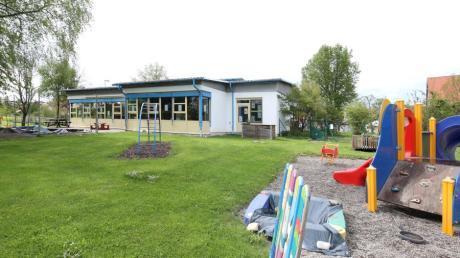 Die Kindertagesstätte St. Martin in Waldstetten: Mit einem nach Süden verlaufenden Anbau an der Ostseite des Gebäudes soll die Einrichtung künftig mehr Platz bieten.