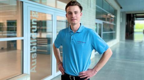 Jeremy Schwehr ist heuer der beste Industrieelektriker in den Landkreisen Günzburg und Neu-Ulm.
