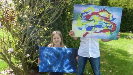 Hinter dem Künstler-Duo-Namen MaLuDA verbergen sich die achtjährige Magdalena und ihr Vater Peter.