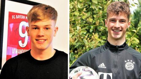 Die jungen Fußballer Ben Emci aus Pfuhl (rechts) und Samuel Unsöld aus Unterelchingen haben es zu Bayern München und in den Kader der Nationalmannschaft geschafft.