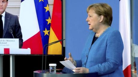 Emmanuel Macron und Angela Merkel sind bei der Spionage-Affäre einer Meinung.