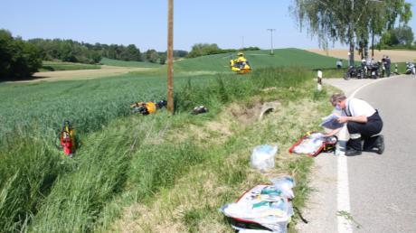 Tödlich endete ein Motorradunfall bei Hohenwart im Landkreis Pfaffenhofen.