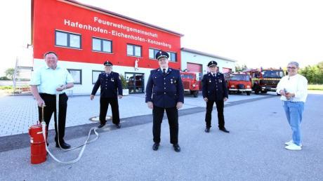 Die Feuerwehrgemeinschaft Hafenhofen, Eichenhofen, Konzenberg, kurz HaEiKo genannt, ist in Betrieb gegangen und hat das neue Gerätehaus beim Konzenberger Sportplatz bezogen.