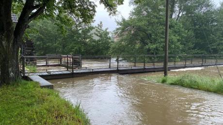 Wiederholt gab es in den letzten Wochen im Ortsbereich von Ziemetshausen Probleme mit Hochwasser und Starkregen.