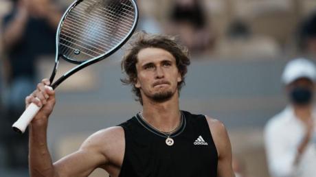 Geschafft: Alexander Zverev steht bei den French Open erstmals im Halbfinale.