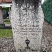 Die letzte Ruhestätte von Leonhard Bobinger auf dem Ursberger Klosterfriedhof.