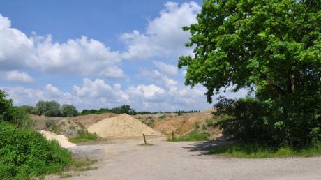Im Zuge einer Rekultivierung wird die ehemalige Bauschuttdeponie südlich von Nattenhausen einer künftigen Weidenutzung zugeführt.
